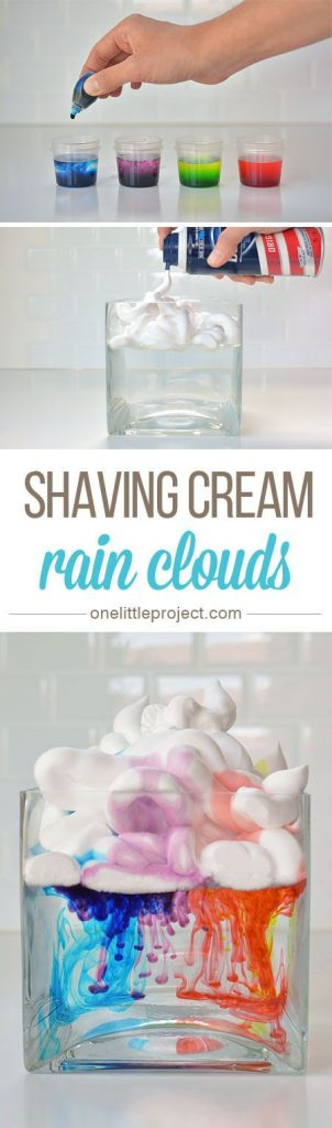 These shaving cream rain clouds were a fun, easy and beautiful activity to do wi... 1