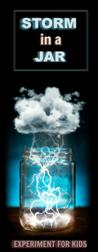 Kid SCIENCE:  Make a storm in a jar.  I can&#39t wait around to test this! 1