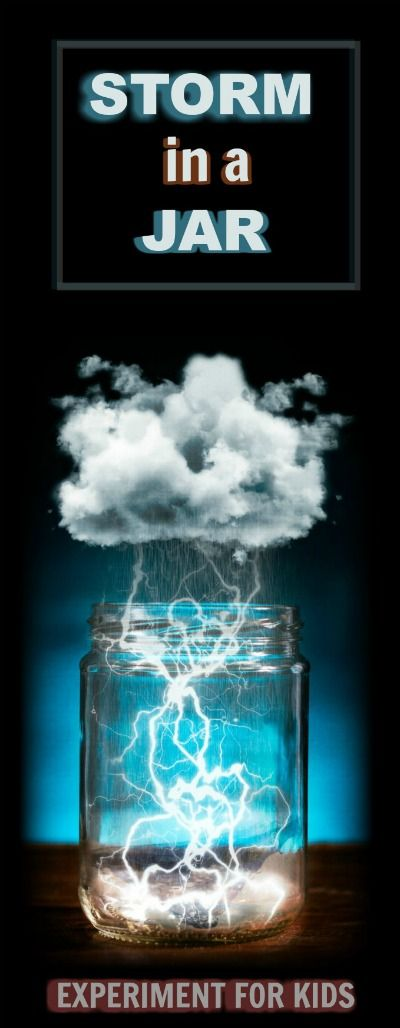 Kid SCIENCE:  Make a storm in a jar.  I can&#39t wait around to test this! 2