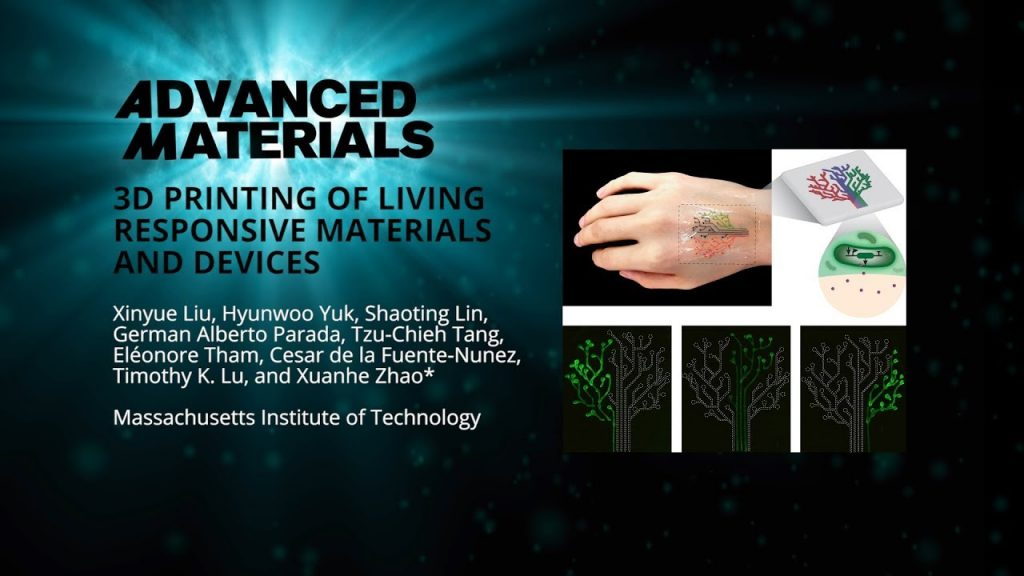 3D Printing of Living Responsive Materials and Devices 1