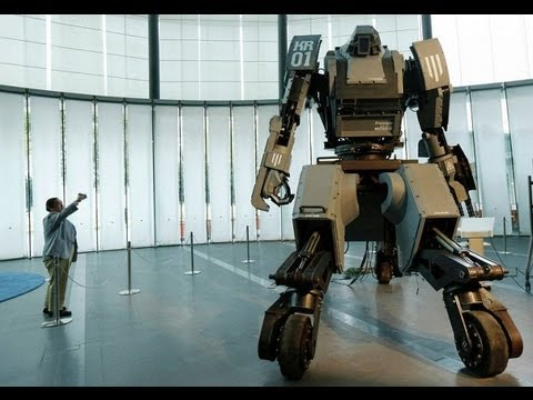 SUPER ROBOT!!!! Science news. Giant fighting robot from Japan. Tokyo. 1