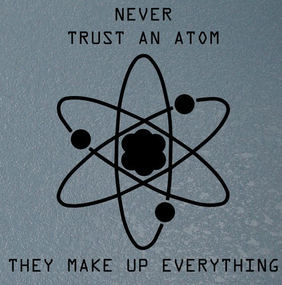 Science quote decal Atom wall decal Science by NipomoImprints, $12.00 1