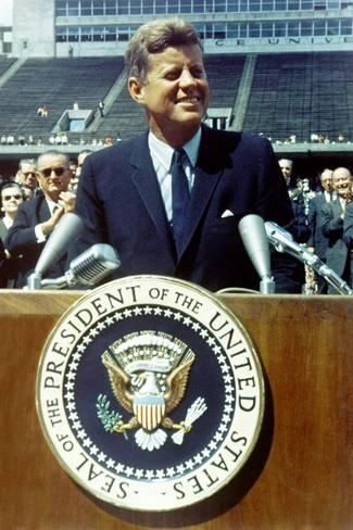 Photo: President Kennedy Speaking at Rice University, Sept. 9, 1962 : 24x16in 1