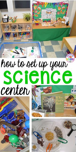 How to set up the science center (with freebies) in your early childhood classro... 1
