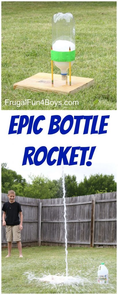 This EPIC Bottle Rocket Flew Higher Than our Two Story House! Use a soda bottle,... 1