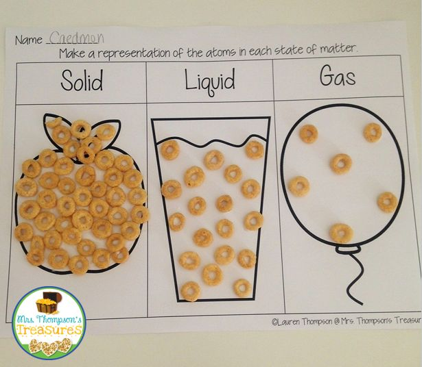 Science experiments for kids: States of Matter Fun! Representing the atoms with ... 1