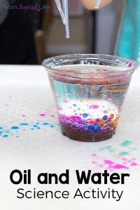 This oil and water science exploration is a fun science experiment for preschool... 6