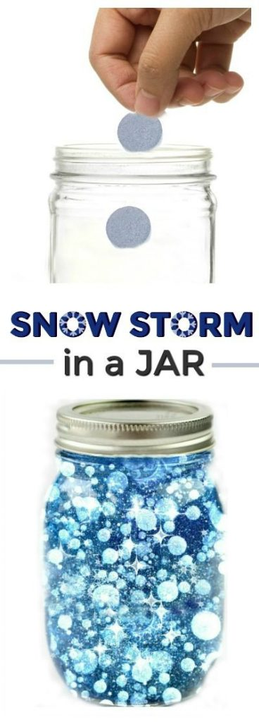 FUN SCIENCE: Make a snow storm in a jar.  How cool!  (Winter science for kids) #... 1