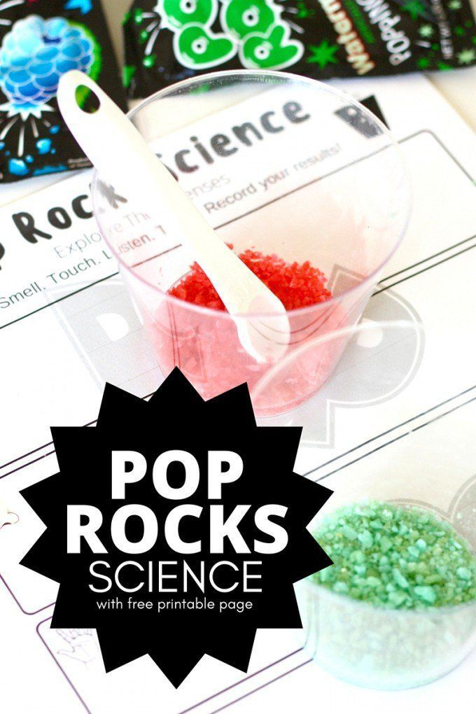 Explore the 5 senses with a simple science activity using Pop Rocks Candy! Pop R... 1