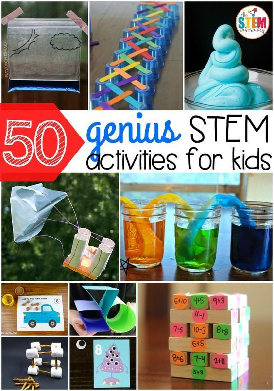50 genius STEM activities for kids! So many fun science, technology, engineering... 1