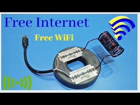 Get free internet 100% Real new idea free wifi internet new technology science p... 1