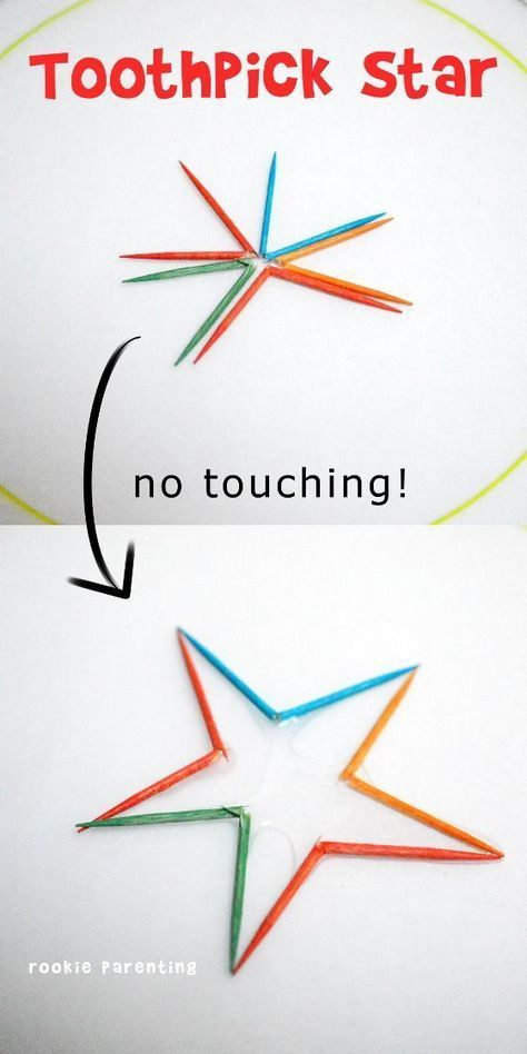 Toothpick Star Science Experiment - This science experiment is simply magical. S... 1