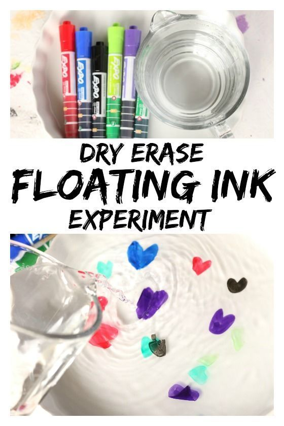 "Amazing Dry Erase ""Floating Ink Experiment""- Make your drawings float with this ... 1"