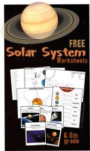 FREE Solar System Worksheets for kids Kindergarten, 1st grade, 2nd grade, 3rd gr... 4