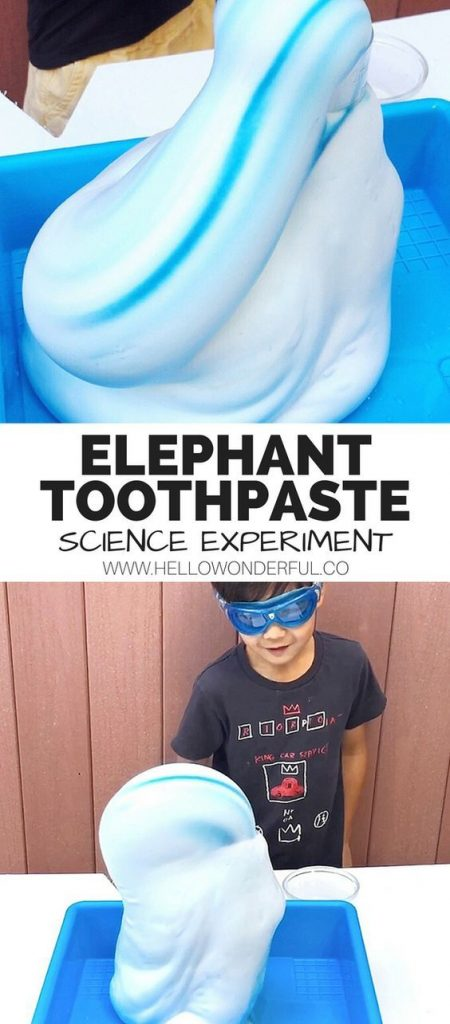 Elephant Toothpaste Science Experiment. Fun #scienceexperiment for kids! Watch t... 1