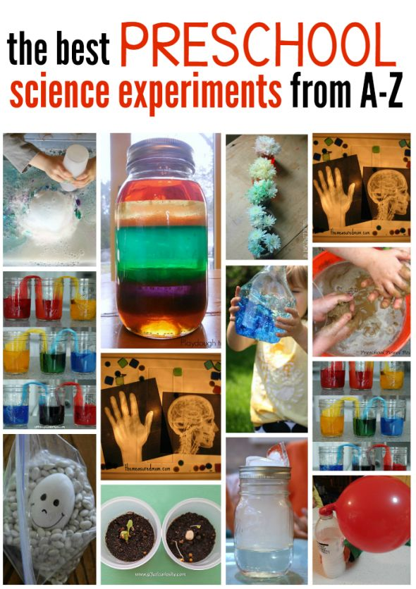 These are our favorite science experiments for preschoolers, from A-Z! 1