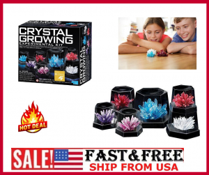 4M Crystal Growing Experiment Science Kit For Kids Conduct 7 Crystals 7