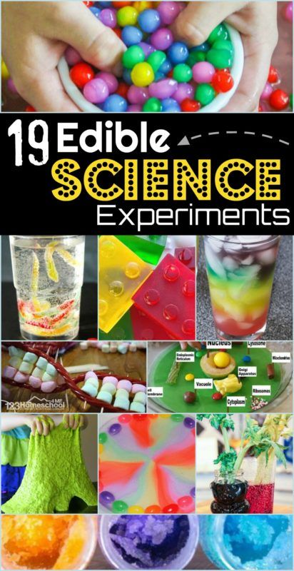 19 Edible Science Experiments - so many fun science projects for kids of all age... 1
