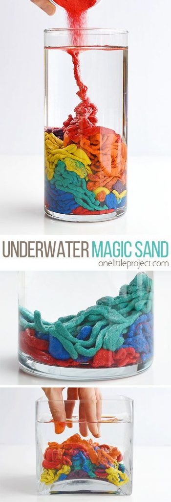 This underwater magic sand is SO COOL! This is such a fun science experiment to ... 1