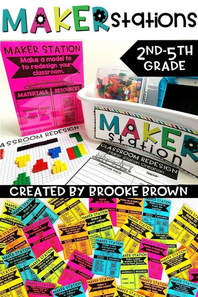 Looking for an Elementary Makerspace without the SPACE? Maker Stations provide t... 1