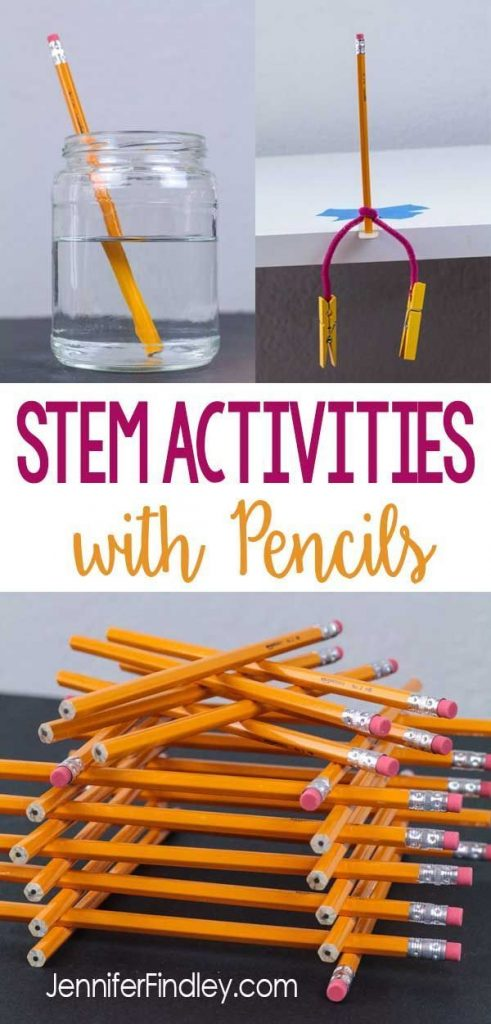 STEM activities using pencils are easy to prep and implement for back to school ... 1