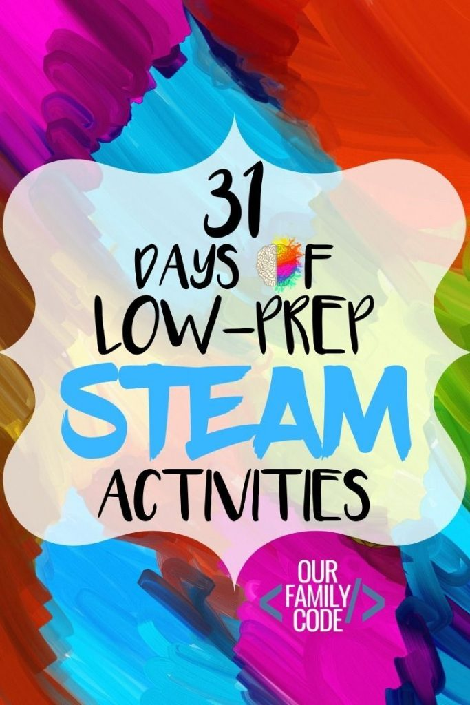 For the month of October, we will be sharing a daily low-prep STEAM (Science, Te... 1