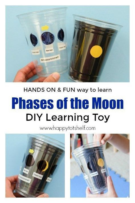 Learn about Phases of the Moon with this DIY Learning Toy. #spacetheme #diylearn... 1