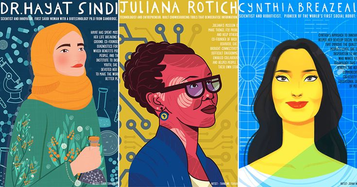 Eight downloadable posters celebrating women of STEM perfect for displaying in k... 1