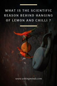 What is the scientific reason behind hanging of lemon and chilli? - science and ... 4