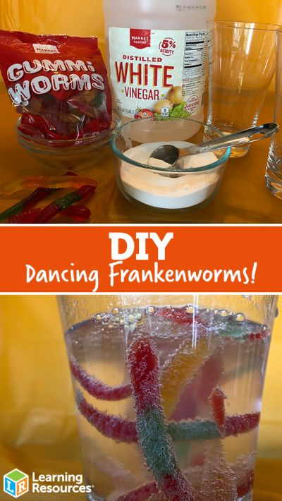 Dancing Worm Science DIY Candy comes alive with this simple science experiment o... 1