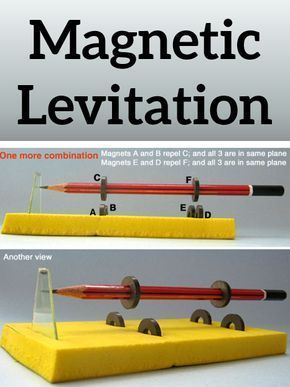 What a cool science experiment for kids! Make your own magnetic levitation. 1
