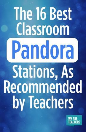 Background tunes for quiet work times. Here are 16 of the best classroom Pandora... 1