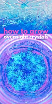 Science for Kids: Learn How to grow crystals overnight using epsom salt. Great s... 1