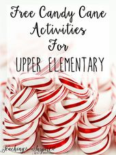Candy Cane Activities for Upper Elementary {Free} - Teaching to Inspire with Jen... 1