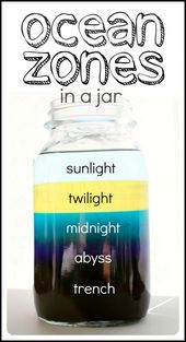 Ocean Zones in a Jar - science project for kids 1