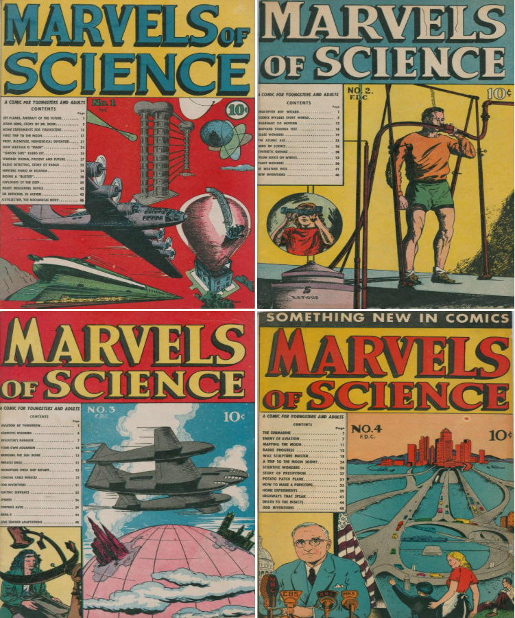 1946 Marvels of Science Comic Book Package - 4 eBooks on CD 1