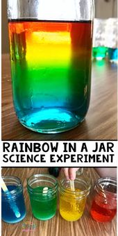 Rainbow In A Jar Science Experiment - Primary Playground 1