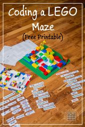 Coding a LEGO Maze - Free, printable activity for teaching programming concepts ... 13