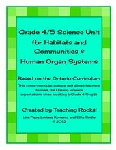 This combined grade 4/5 units meets the Ontario Science Curriculum Expectations ... 1