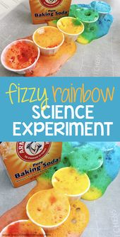 Rainbow baking soda science experiment for kids 1