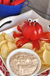 Crab Red Pepper Dip - das sieht aus wie eine Krabbe! - #aus #Crab #Das #Dip #Ein... 1