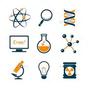 Chemistry And Bio Technology Science Icons  #graphicriver 1