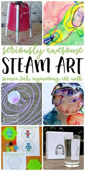 7 STEAM Art Activities your kids will love - All the fun of science, technology,... 1