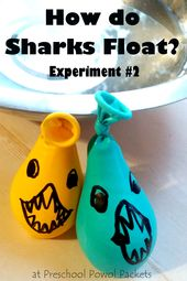 Awesome science experiment showing how sharks float! This science project is per... 6