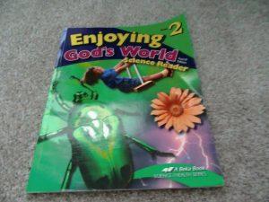 ABeka    Enjoying God's World     Science Reader     2nd Grade 2    Very Good 7