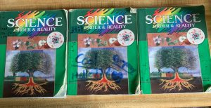 Abeka's 7th Grade Science order and Reality textbook 3