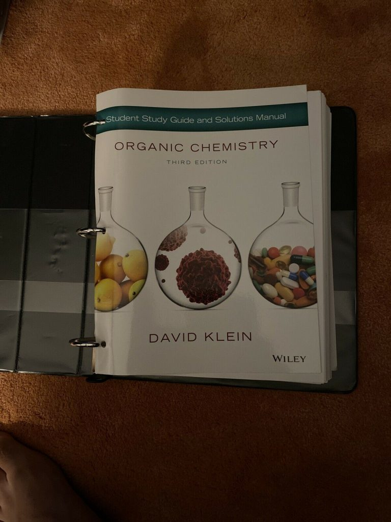 Organic Chemistry - 3rd Edition - David Klein - Loose Leaf 11