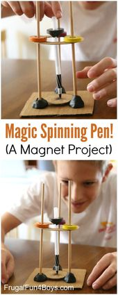 Magic Spinning Pen - A Magnet Science Experiment for Kids - Frugal Fun For Boys and Girls 1