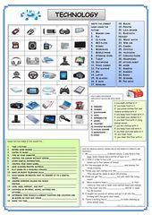 TECHNOLOGY - English ESL Worksheets 1