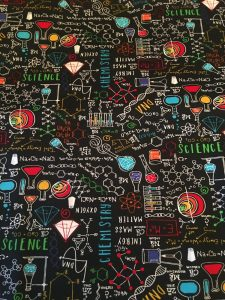 SCIENCE/ CHEMISTRY/ TEACHERS fabric! 1/4 Yard! New! 7